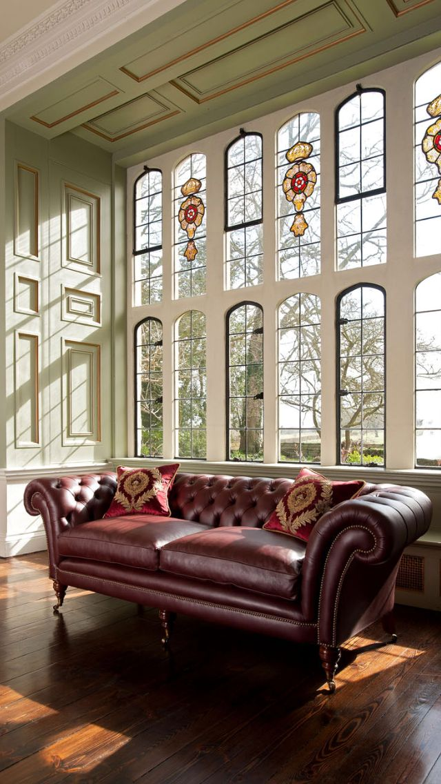 The Grenville is a timeless classic in the world of luxury furniture and is handmade by our skilled craftsmen. Shown here in leather, the deep buttoning, firm and supportive hand springing, and generous scrolling arms and back create an instantly recognisable English design icon. Did you know? The original Chesterfield sofa is believed to originate from one commissioned circa 1830 by Phillip Stanhope, the 4th Earl of Chesterfield.