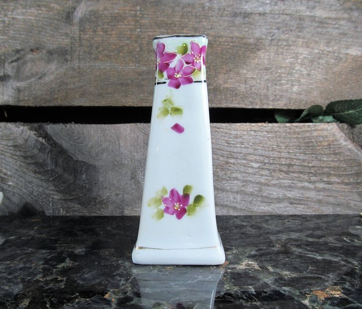 Nippon Hatpin Holder or Bud Vase, Early 1900's Vanity Decor and Accessory, Home, Office & Farmhouse Fashion Decor, Collectible Japanese Art. by TheStorageChest on Etsy