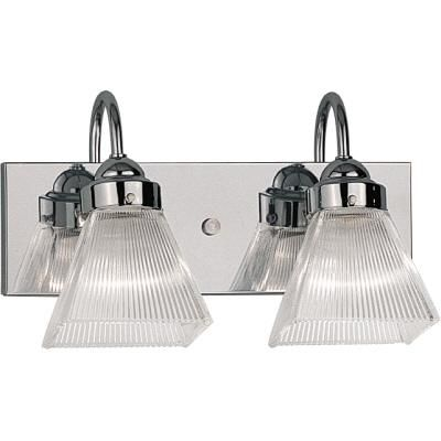 Progress Lighting - Square Prismatic Glass Collection Two-Light Wall Bracket in Chrome - 785247332151 - Home Depot Canada $82.76