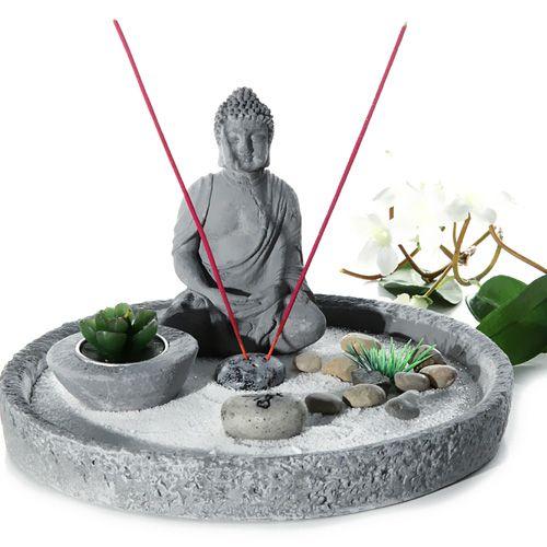 steingarten-18-teile-buddha-raeucherstaebchen-buddha-zen-garten, Garten Ideen
