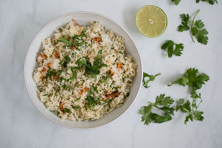 Lime Cilantro Rice a La Chipotle - Cook Smarts