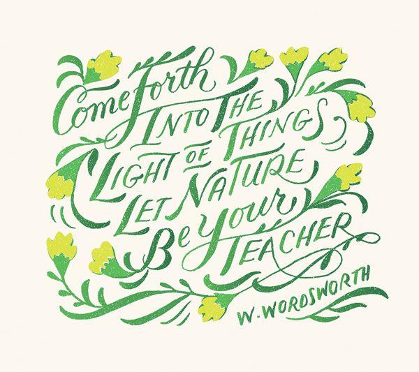 William Wordsworth :: lettering by Jill De Haan
