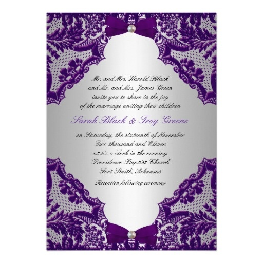 Wedding Invitation Thoughts: Purple And Silver Wedding Invitation