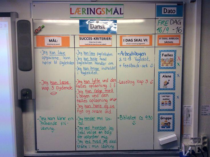 Dagens læringsmål i 4 klasse dansk... :-)