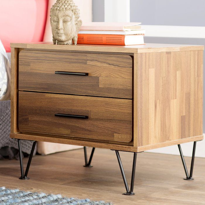 Verda 2 Drawer Nightstand 175 2 Drawer Nightstand Drawer