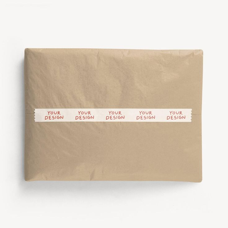 Ideal for light-duty applications like sealing butcher paper, envelopes and small packages. A great way to add your branding without the need for fully custom packaging.