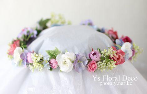 水色のドレスにあわせる花冠 Ys Floral Deco @アニヴェルセル表参道