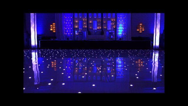 White starlit LED Dance Floor Live in Action!!