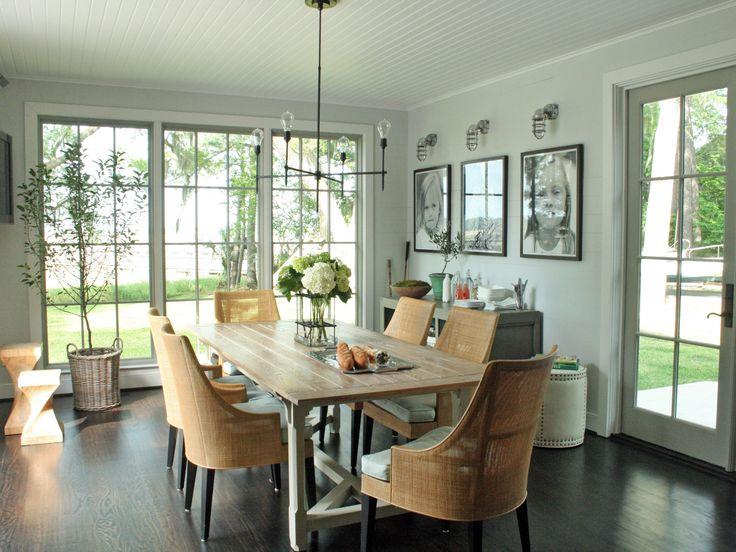 Green Mid Century Modern Dining Room