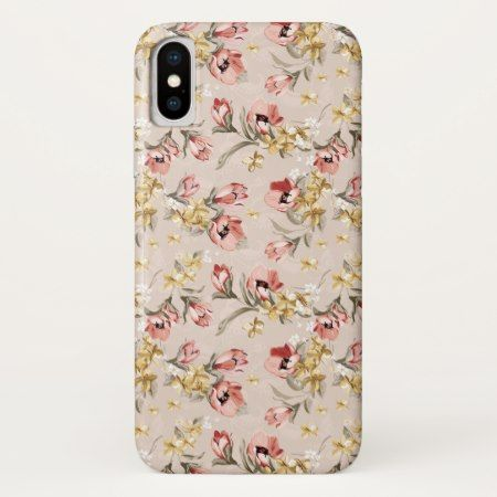 Abstract Elegance floral pattern 3 iPhone X Case - click to get yours right now!