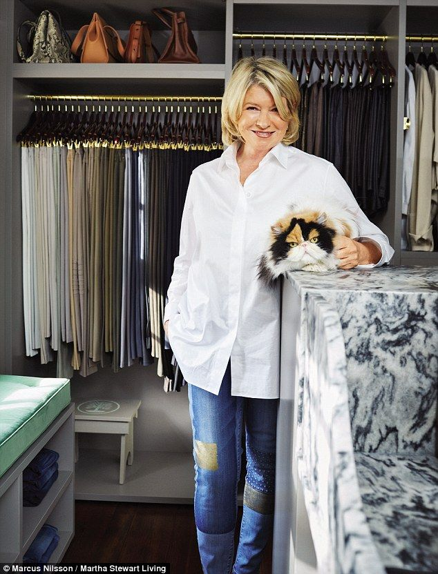 Perfectly organized! Martha Stewart has opened the doors of her immaculate walk-in closet after turning a small bedroom in her Bedford, New York, home into a wardrobe space
