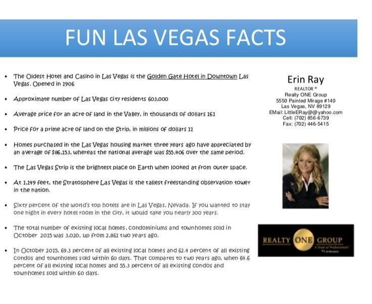 1000 images about erin on pinterest for Amazing facts about las vegas