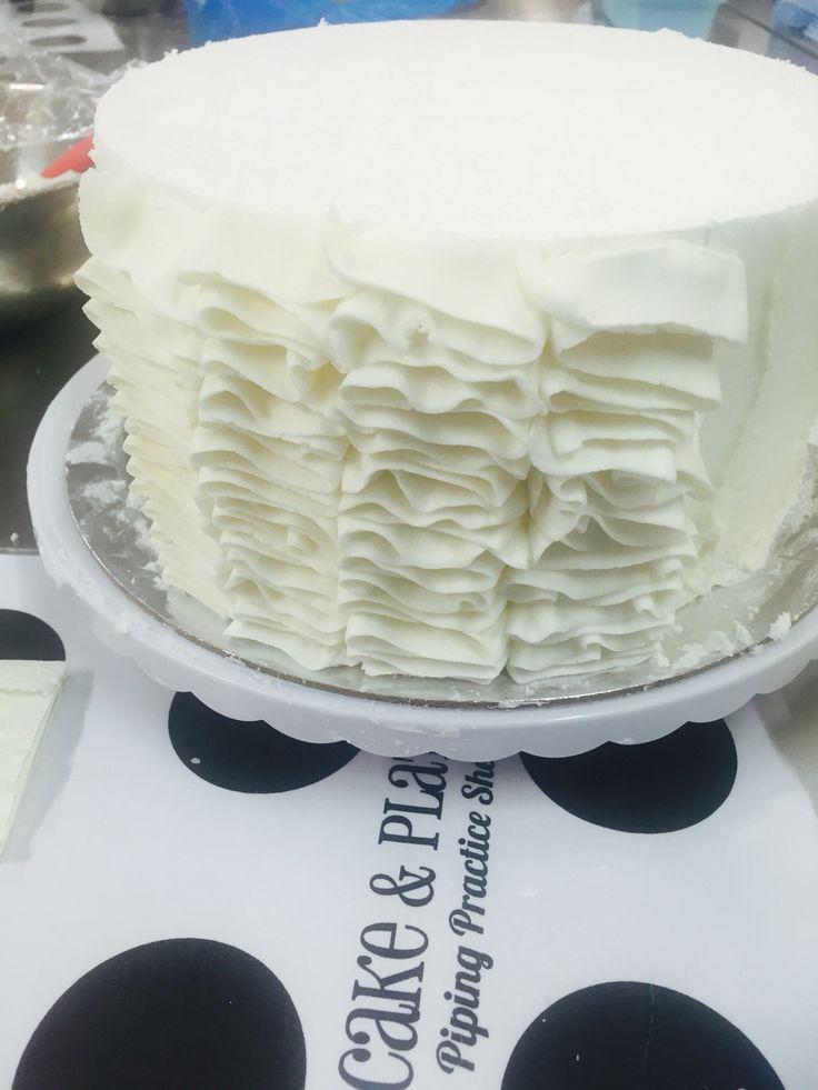 Start of a ruffle cake