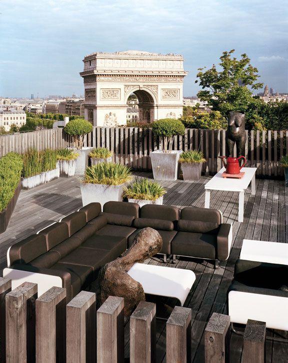 #Terrasse urbaine #Paris design par Charles Zana - Arc de Triomphe