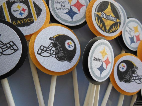 9 best evans steelers birthday images on pinterest steelers stuff steelers birthday cupcake toppers pittsburgh by gingerspartyshop 950 filmwisefo Gallery