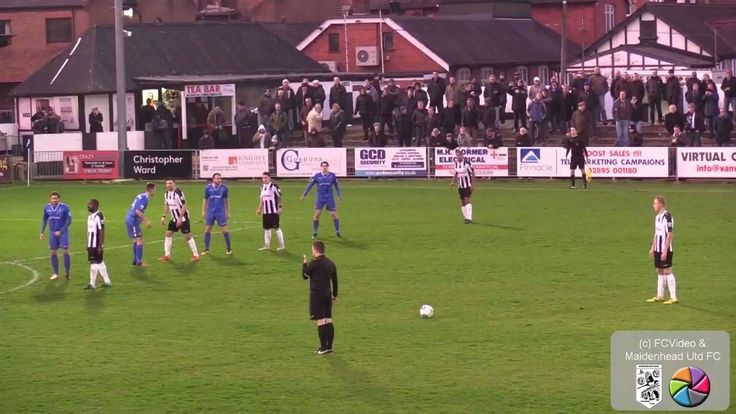 Lad protects his girlfriend from incoming free-kick with an outstanding header!  Credit Maidenhead United FC