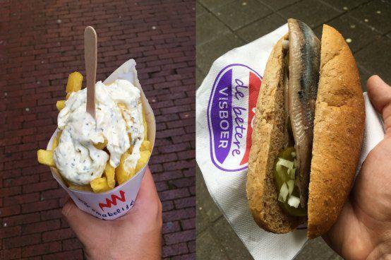 Dutch street food in Albert Cuypmarkt