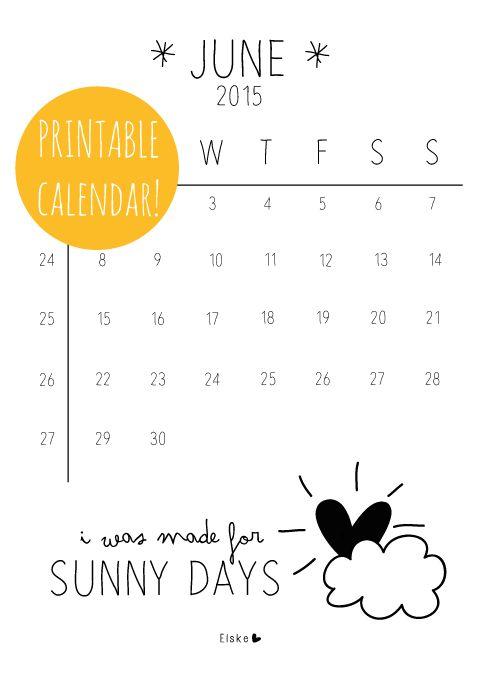 Printable maandkalenders