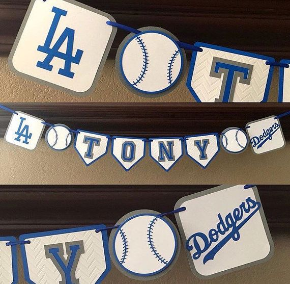 Los Angeles Dodgers Baseball party Banner Dodgers by FiestaPaperie