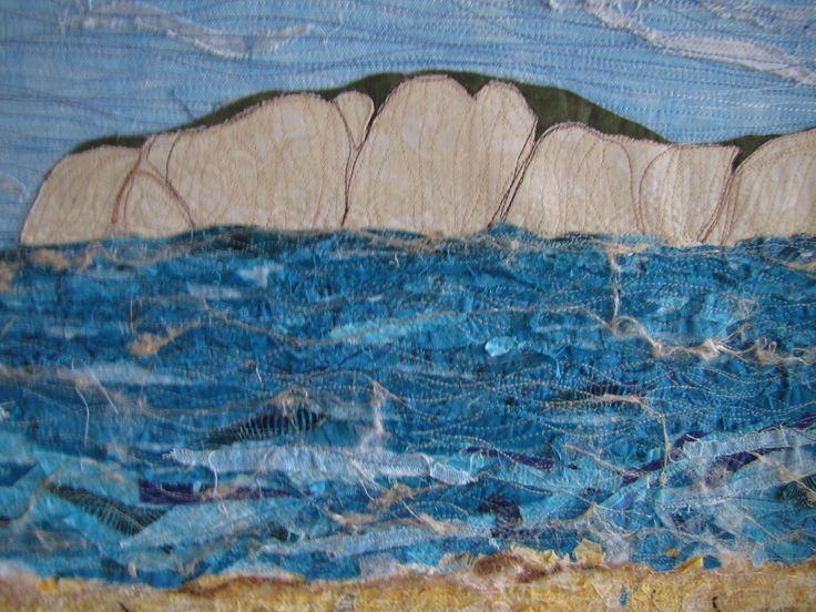 Young Nicks Head - Fabric collage - Lynn Nunn