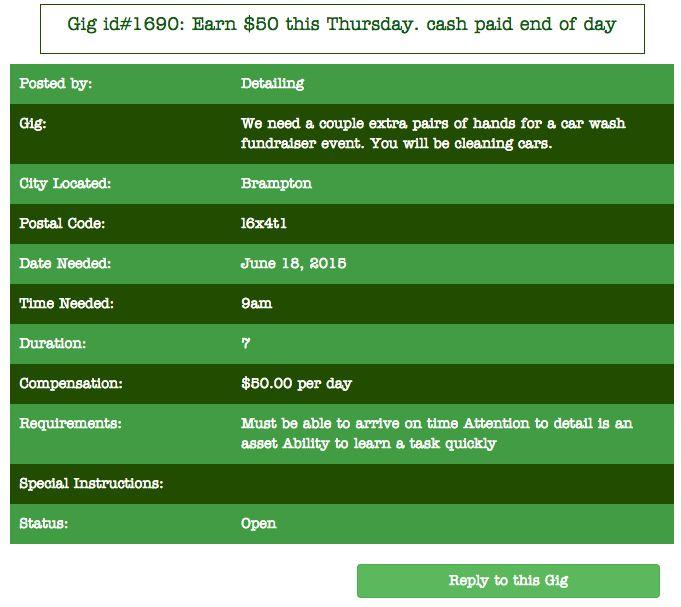 Anybody want to make Xtra cash tomorrow? #Brampton #cashjob #toronto