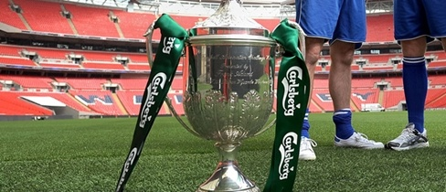 Guernsey FC are through to the last 32 of The FA Vase after a Ross Allen treble fired them to a 4-0 win against Erith & Belvedere at Footes Lane.