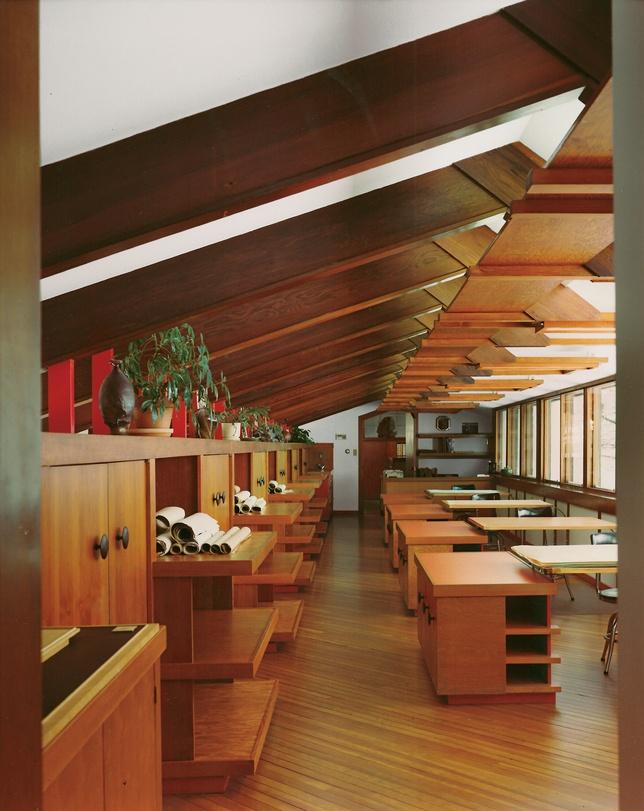 Alden B. Dow.  Drafting room.