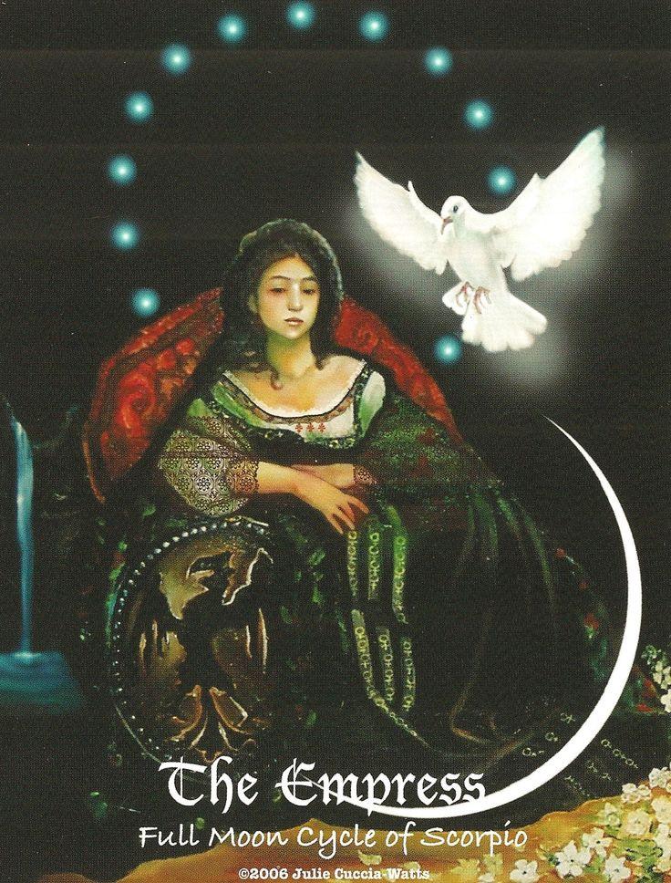 "This is ""The Empress"" from Julie CucciaWatts ""MAAT"" Tarot"