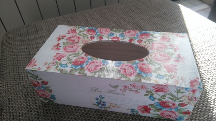 handkerchiefs decoupage box