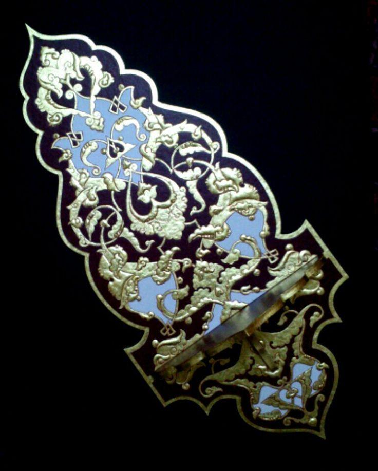 Altın'nın büyüsü!!  Altın varaklı kavukluk çalışmam. Ayşegül Kmc
