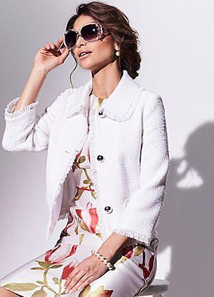 Kaliko Boucle Jacket #kaleidoscope #fashion #wedding #MOTB