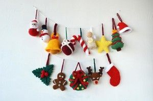14 Christmas Ornaments, Tree Decorations Pattern