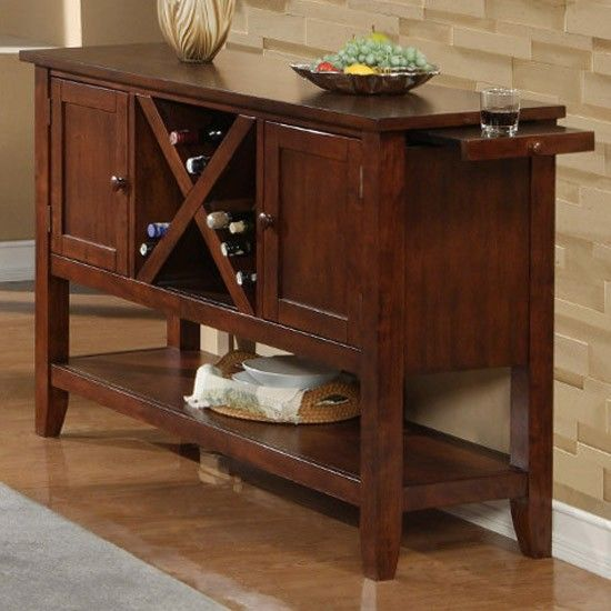 Oberlin Buffet Table With Pullout Side Trays