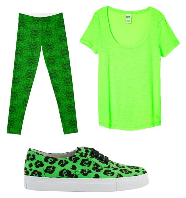 Green by aniarkdk on Polyvore featuring polyvore, fashion, style, Moschino Cheap & Chic and clothing