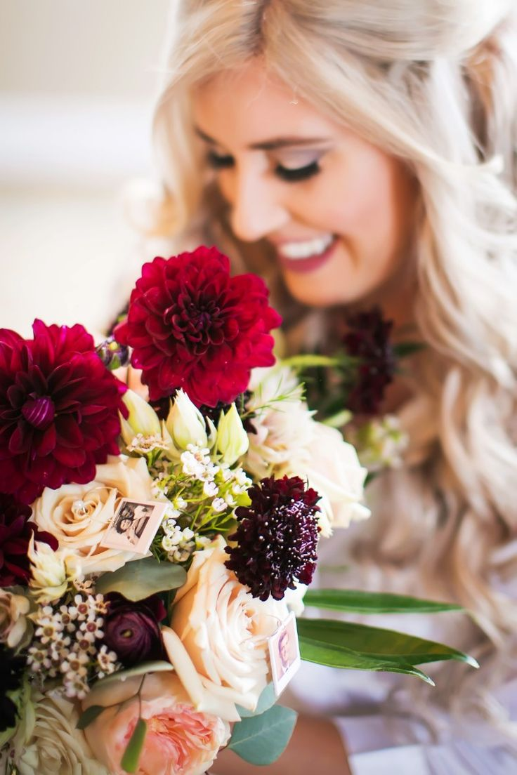 Gorgeous dahlia wedding bouquet (Limelight Photography)