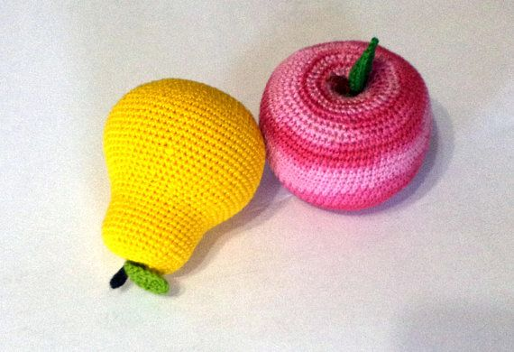Crochet knit corn-2 Pcs-crochet play food-Crochet