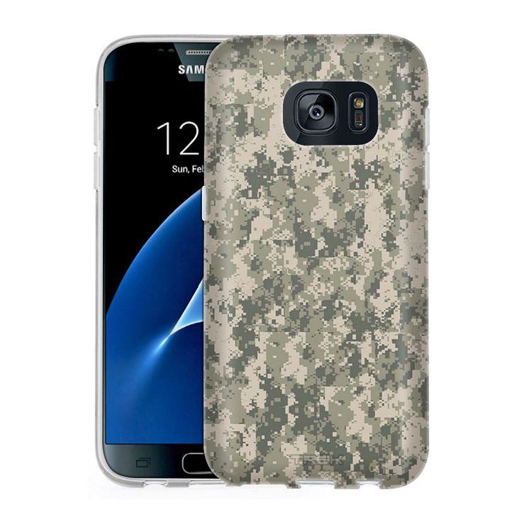 Samsung Galaxy S7 Digital Camo Tan Slim Case