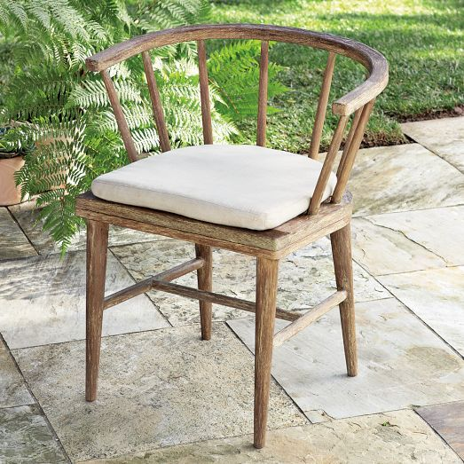 Inspired by classic Windsor style, the Dexter Dining Chair is a modern update to rustic outdoor furniture. Handsome and durable.