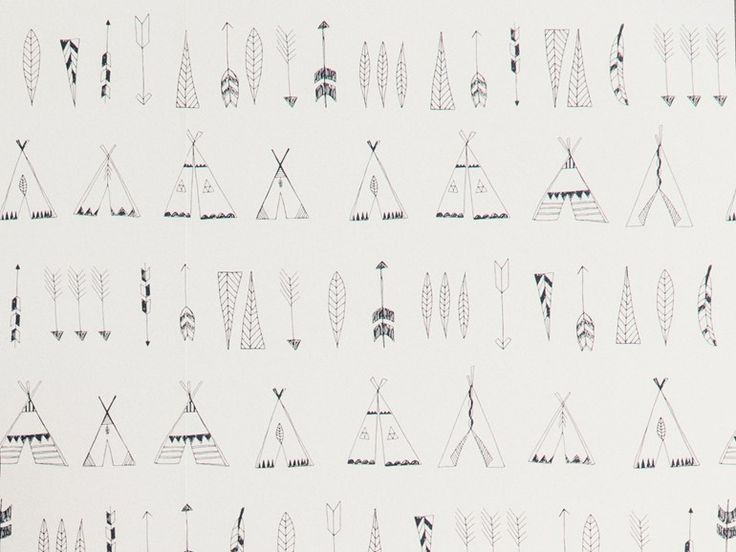 wallpaper native | Ferm Living via Kinderkamerstylist