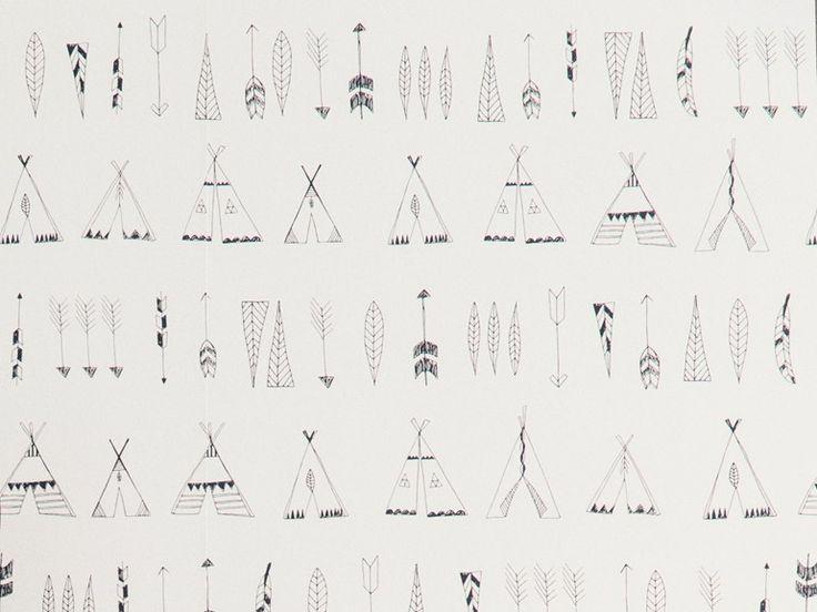 wallpaper native | Ferm Living via Kinderkamerstylist