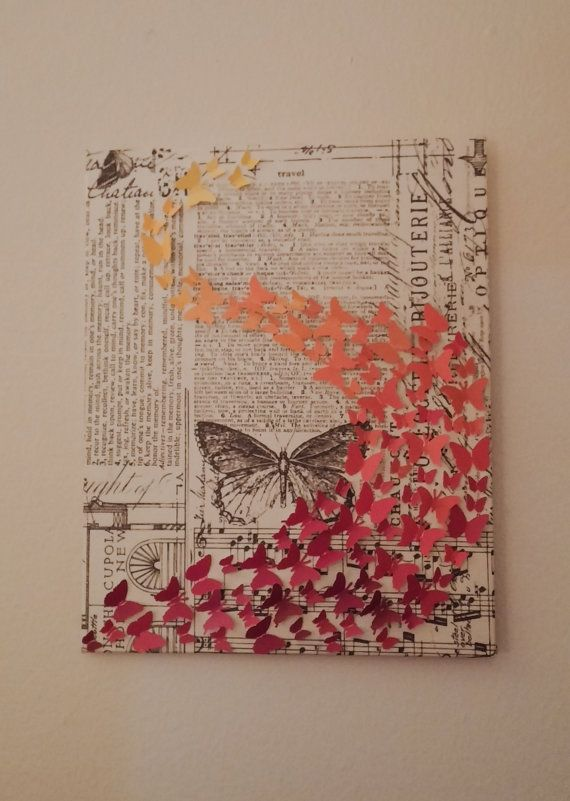 Beautiful Inspirational 3d Wall Art Created Using Recycled Materials Made To Order One Of A Kind Artwork O Paint Swatch Art Paint Swatches Wall Paint Chip Art