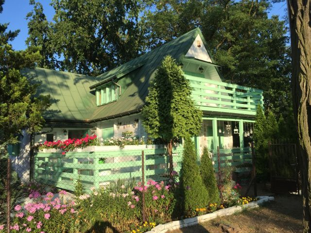 Miętowo-biały domek ----------------- mint-white cottage