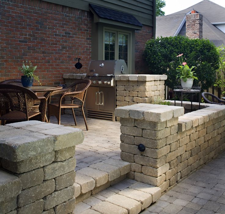 Multilevel Paver Patio And Retaining Wall
