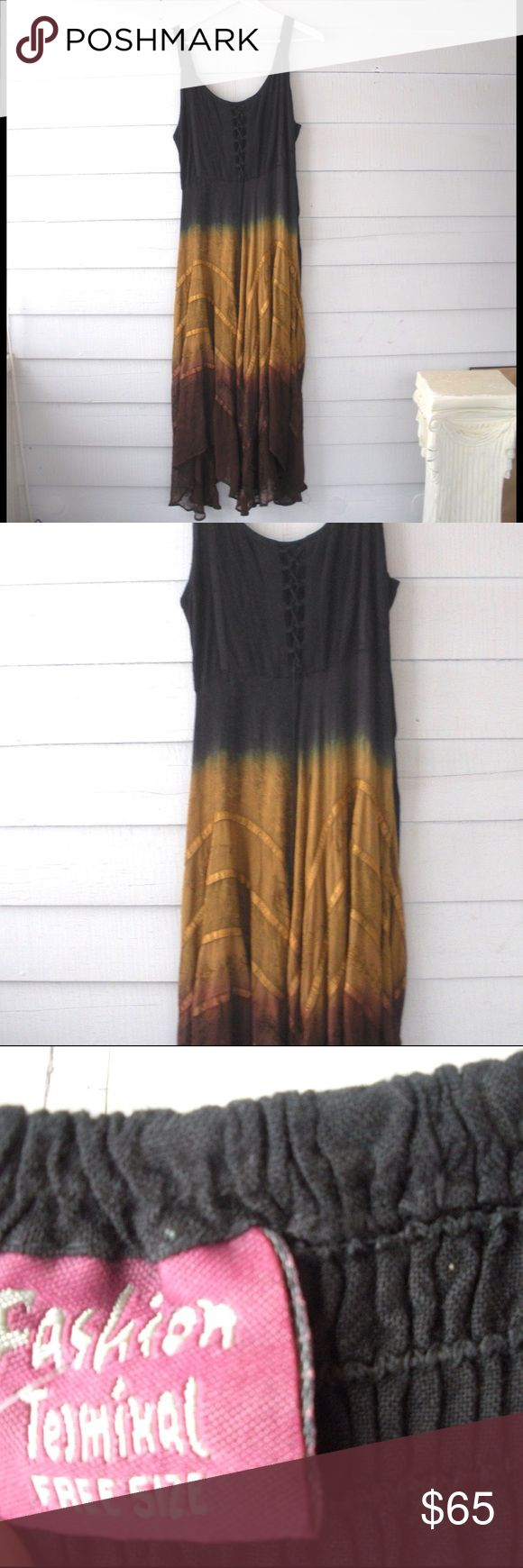 Vintage Boho Dip Dyed Maxi Dress Medium Gorgeous boho maxi dress. One size, but can fit a small, medium, or large. Flawless condition...I never worn it, it's a tad big on me. Free People Dresses Maxi