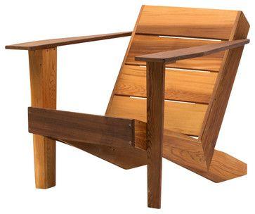 Modern Clear Cedar Deck Chair - contemporary - Adirondack Chairs - Laurie Ann Greenberg