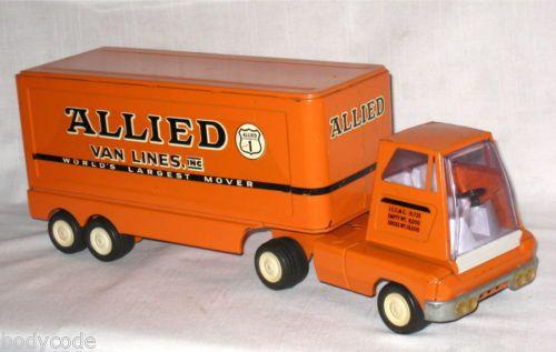 Vintage 1960's, TONKA ALLIED MOVING VAN Lines, Pressed Steel toy