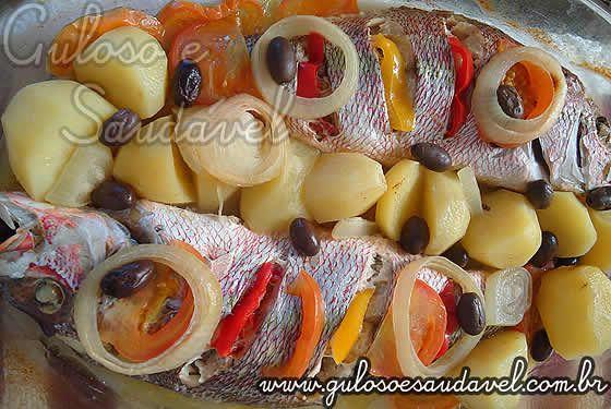 Peixe Assado no Forno » Peixes e Frutos do Mar, Receitas Saudáveis » Guloso e Saudável