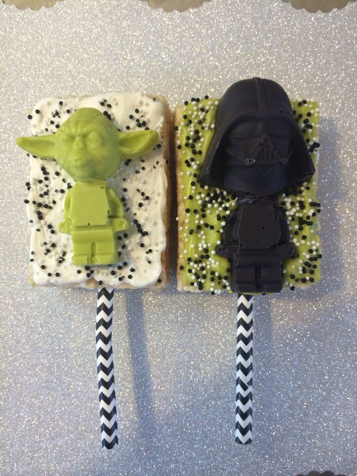 Star Wars Lego Rice Krispies Treats! Darth Vader and Yoda ...