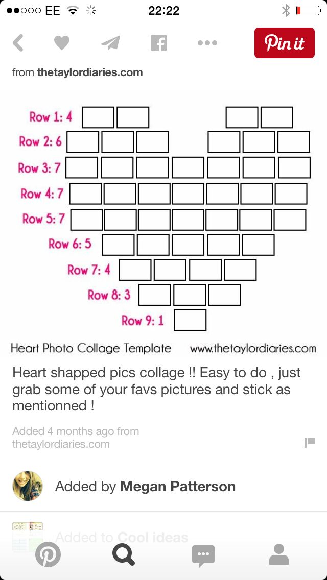 the taylor diaries heart photo need 44 pictures total - Picture Collages