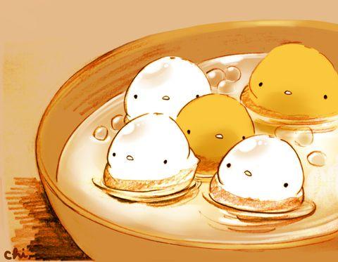 白玉、さつまいも、タピオカをココナッツミルクで煮込んだ、お汁粉のようなもの。フィリピンの甘いデザートです。 ●画集「に。」発売まであと7日!  http://urx.nu/aiBq
